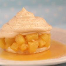 Cuby - Desert parizian de mare clasa  - Ananas cu spuma caramel